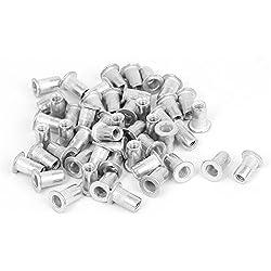 Sourcingmap–® M4x 11mm aluminio cabeza avellanada Rivnuts Tuercas remaches Nutserts 50Pcs