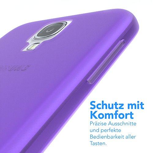 Samsung Galaxy S4 / S4 Neo Hülle - EAZY CASE Ultra Slim Cover TPU Handyhülle Matt - dünne Schutzhülle aus Silikon in Dunkelblau Matt Lila
