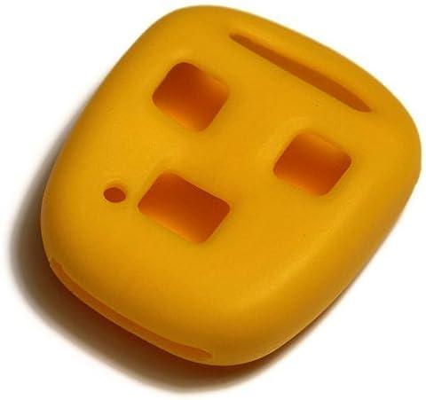 Housse étui en silicone jaune dantegts Porte-clés télécommande smart Pochettes Protection Clé chaîne Compatible avec: Lexus SC30098–00