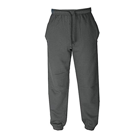 Mens Joggers Sweat Pants Tracksuit Bottoms Joggings Trousers Slim Casual Smart Fit Pants( Black,