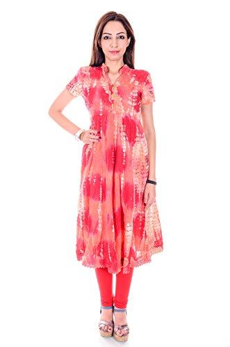 GoodWill women's Cotton Multi Color Anarkali Kurti_GW-416-S_Small