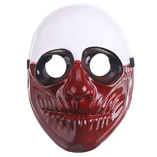 Lanking Halloween Maske, Zahltag 2 Thema Horror Cosplay Partei Für Fechten Streik Kostüm Requisiten Maske Dekoration (Alter ()