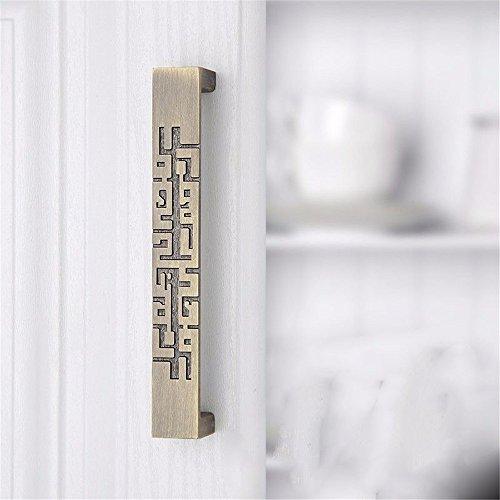 Mmdlai maniglia in bronzo verde armadio armadio porta maniglia singolo foro scarpa cassetto hardware casa tirare manico antico maniglia a manopole maniglia