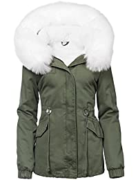 c4853419171b TRISES DAMEN WINTER JACKE 3in1 PELZ KAPUZE 100% BAUMWOLLE FELL KRAGEN WARM