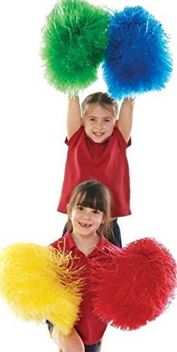 Creativeminds UK Cheerleader Kostüm Zubehör Tanz Movement Aktivitäten Pom Poms 4er - Tanz Kostüm Pom Poms
