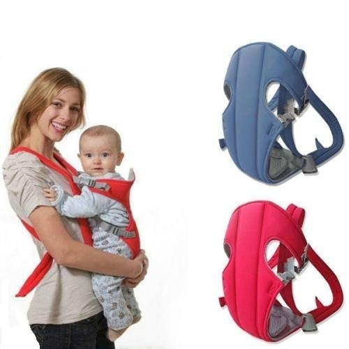 Chinmay Kids Baby Mini Carrier 1 Pc Adjustable 4-in-1 with Comfortable Head Support & Buckle Straps (Blue)