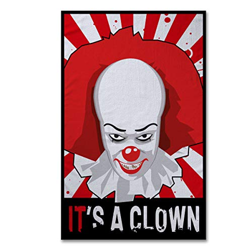 h 90x150cm Horror Parodie Kultkino Es Assassino Clown Teli ()