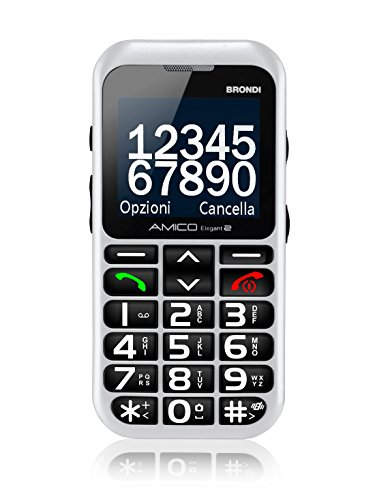 Brondi amico elegant 2 telefono cellulare, bianco
