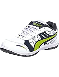 Azotic Men's White Synthetic Leather Lace-Up Sport Shoes
