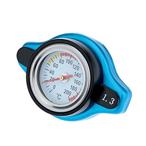 Yiqiane Austauschbare Autoteile Thermostatischer Universal-Kühlerdeckel mit Wassertemperaturanzeige zum Fahrer