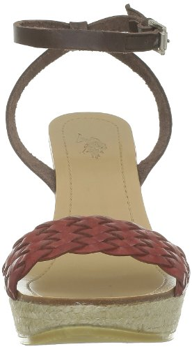US Polo Assn Dora, Sandales femme Marron (Dkbr/Red)