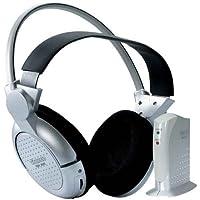 Vivanco FMH 6050 - Auriculares inalámbricos (frecuencia de transmisión 863 MHz), color plateado