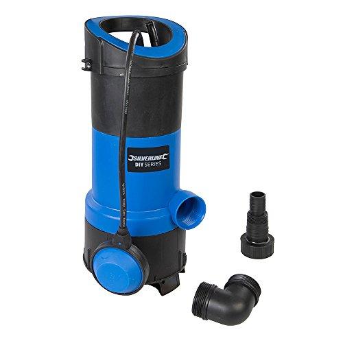 Silverline 917615 Bomba Sumergible para Aguas Limpias y Residuales, 750 W