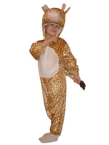 Plüsch Giraffe Kostüm Kinder - Giraffen-Kostüm, J24 Gr. 110-116, für Kinder,