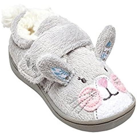 next Niñas Pantuflas Zapatillas de estar por casa conejito (Niña pequeña)