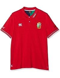 Camiseta para hombre de piqué de algodón VapoDri, del equipo de rugby de los leones británicos, hombre, Vapo Dri Cotton Pique Training, Tango Red, XL