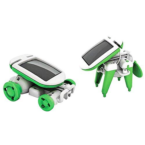 Isuper Set di auto solari 6 1 giocattoli ad energia solare giocattoli educativi di scherzo