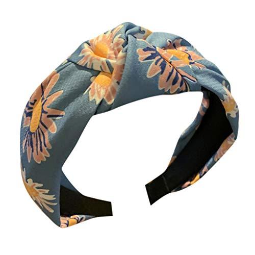 YUTING ☀‿☀ Cerchietto per Capelli Donna Fasce Larghe Twist Knot Turban Fascia Fashion Elastic Floral Print Fascia per Capelli Accessori per