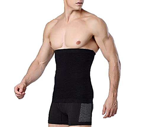 Hengsong Männer Taillenformer Schlank Bauchweggürtel Taillenmieder Herren Shapewear Korsett Bauch Gürtel Körper Unterwäsche (Schwarz, M)
