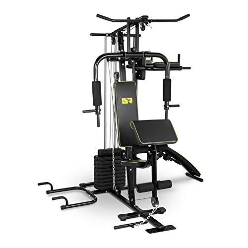 Gymrex Stazione Multifunzione 7 in 1 Palestra Home Gym GR-MG10 (120 kg, 10 Dischi da 4,5 kg)