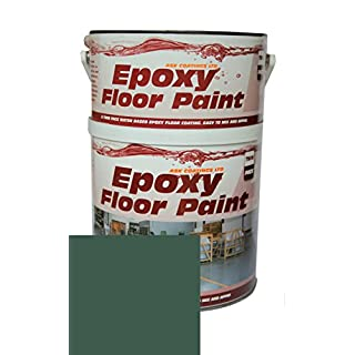 Epoxy Resin Floor Paint by Ask Coatings. For Garage, Industrial and Domestic. 2.5L (Green)