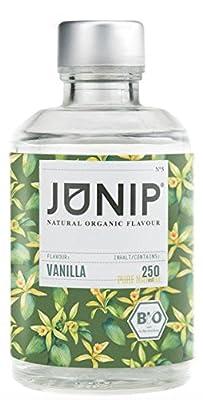 Infuseur bouteille de thé, eau et cocktail JUNIP | 100% BIO sans additifs artificiels ni sucres ajoutés | Faible en calories | Vanille