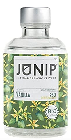 Bio Vanilla Aroma Concentrated for Water, Cocktail Drinks - Food Fragrance for a 100% Organic Vegan Taste - no Sugars or Carbohydrates - Few Calories - Made in Germany by Junip