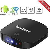 Leelbox Q2 Pro 7.1 Android TV Box Smart TV Box 2 Go RAM + 16 Go ROM BT 4.0. Support 4 K (60Hz)/2.4G et 5 g wifi/3d/4 K/HD/H.265