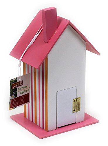 Buntes Vogelfutterhaus aus Holz / Pink / 25 x 12 x 14 cm / Nistkasten - 2