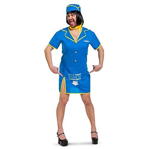Folat 63385 Stewardess Kleid Männer-Größe XL-XXL (Flugbegleiter Kostüm)