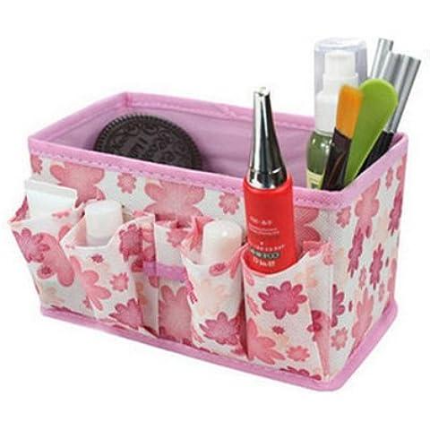 POTOBrand, nuevo almacenamiento de cosméticos de maquillaje bolsa brillante organizador plegable contenedor estacionario de la caja