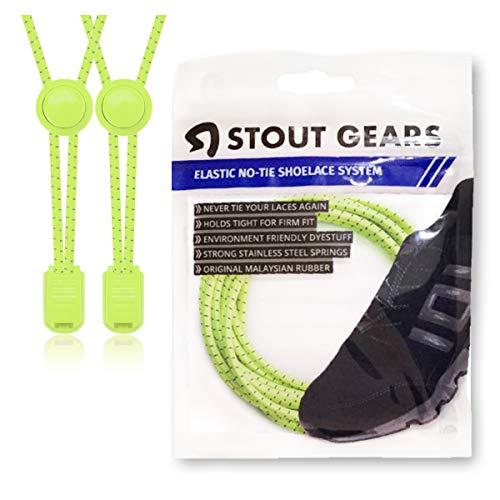 rende Keine Schuhe binden Lock System-Elastische Schnürsenkel für Sneakers (1Paar) ()
