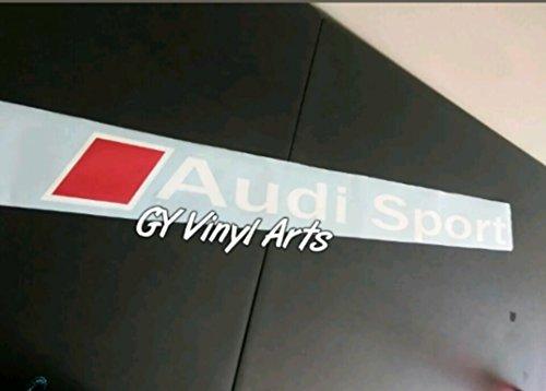 SUPERSTICKI® Audi Sport Windshield Aufkleber Decal Hintergrund/Maße in Inch Quatrro Car Sticker Banners Graphic Die Cut