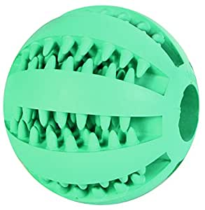 Baseball menthe Denta Fun, caoutchouc naturel, ø 7 cm pour chien -masse les gencives