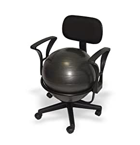 RFM Chaise-ballon avec accoudoirs, hauteur 62cm