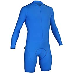 Impsport Time Trial Long Sleeved Cycling Skinsuit - Turquoise Blue