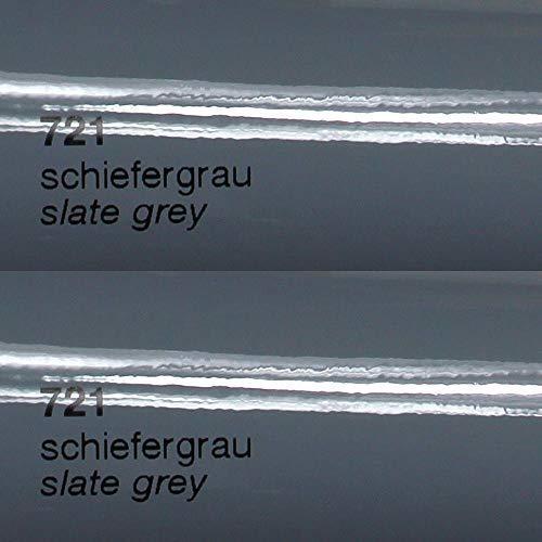 Unbekannt 9,51€/m² Oracal Plotterfolie Glanz 751c 721 Schiefergrau 63 cm Breite gegossene Plotter Möbel-Folie selbstklebend High Performance cast