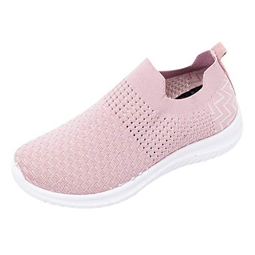 Damen Wanderschuhe, Selou Bequeme Casual Workout Schuhe für Indoor Outdoor Leichte Elastische Socken Sportschuhe Frauen Elegant Art Pumps Trekking Breite FüßE Sneakers