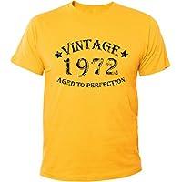 Mister Merchandise T-Shirt Vintage 1972 Aged To Perfection Jahre Geburtstag Years - Uomo Maglietta S-XXL - Molti Colori