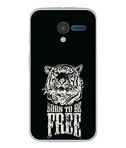 Fuson Designer Back Case Cover for Motorola Moto X :: Motorola Moto X (1st Gen) XT1052 XT1058 XT1053 XT1056 XT1060 XT1055 (Lion Sher Black Color Independent King)