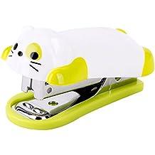 pinkcream Mini Cartoon perro grapadora de escritorio casa oficina papelería con grapas niño regalo