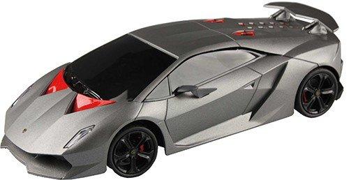 Cart Electronic RC Lamborghini Sesto Elemento en plata, Modelo Coche Teledirigido (Escala 1: 24, alcance 15m, con luz, emisor manual y feinjustierbarer Dirección