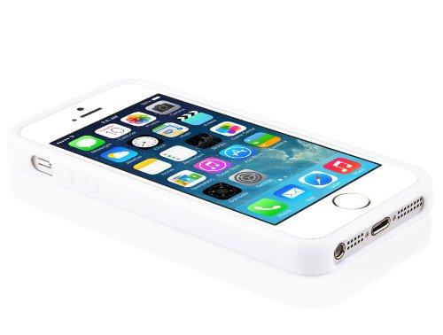Apple iPhone 5C Silikon-Hülle in WEIß von Cadorabo - X-Line Design TPU Schutz-hülle – Handy-hülle Bumper Case Cover in MAGNESIUM-WEIß MAGNESIUM-WEIß
