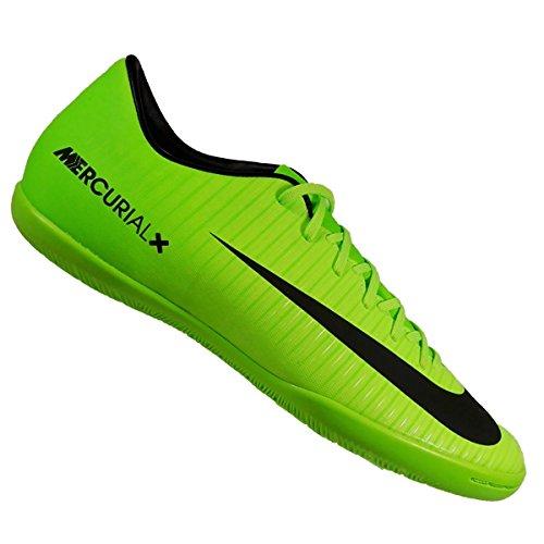 NIKE Fußballschuhe MERCURIAL VICTORY VI IC ELECTRIC GREEN/BLACK-FLASH 7 (Green-performance-einlegesohlen)