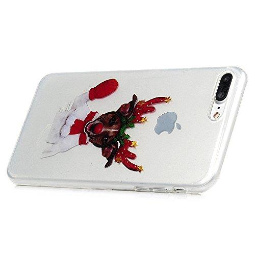 iPhone 7 / iPhone 8 Coque Mavis's Diary Étui Housse Coque de Protection TPU Silicone Gel Antichoc Bumper Original Transparente Phone Case Cover Noël Décoration Coloré 4.7'' pour iPhone 7 / iPhone 8 Ul Chien Noël