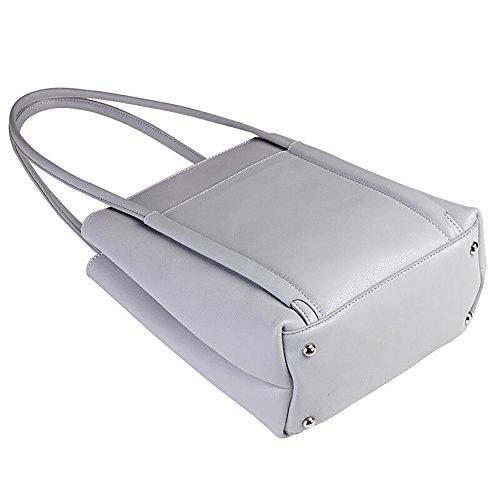 KASEABY , Borsa Messenger  bianco white gray