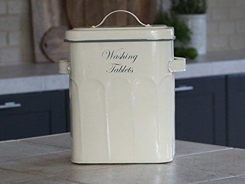 Chic Antique ° Box Behälter für Spülmittel /Waschmittel Tabs Nostalgie Shabby (Metall-waschmittel-behälter)