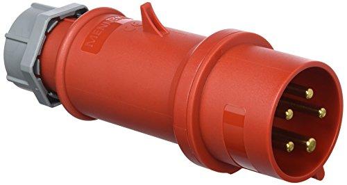 Mennekes 101200154Klinke EWG Pro Top, Steckdosen, 400V, 50-60Hz, 32A, 5-polig, IP 44, 10Verpackung, rot