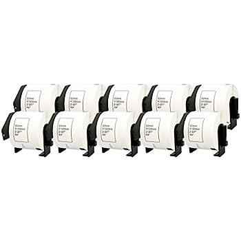 20x Compatibile Rotolo DK-22205 62mm x 30.48m Etichette adesive continuo per Brother P-Touch QL-500 550 570 700 710W 720NW 800 810W 820NWB 1050 1100 1110NWB Stampante per Etichette Nastro in Carta