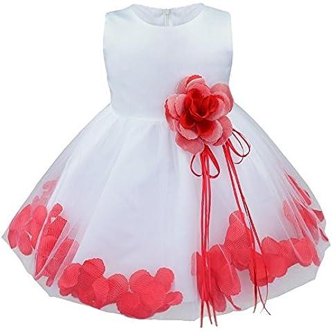 FEESHOW Niñas Princesa De Fiesta Con Tutú Navidad Traje Vestido Fiesta